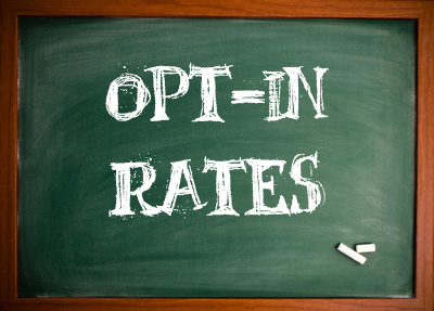 The Opt-ins Rates are From Another World
